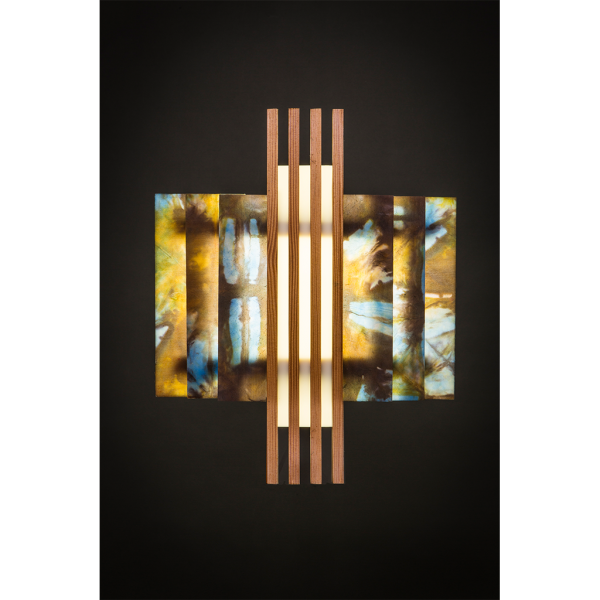 Deep Greene + BLAK RUST Wall Sconce
