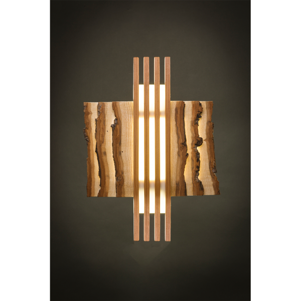 Deep Green Woodworks Oak Wall Sconce