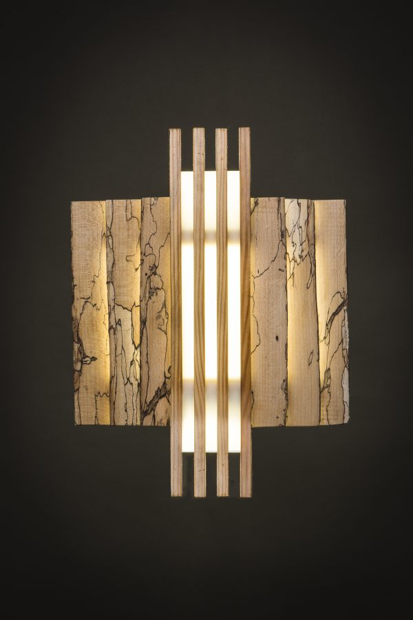 Deep Green Woodworks Spalted Wall Sconce