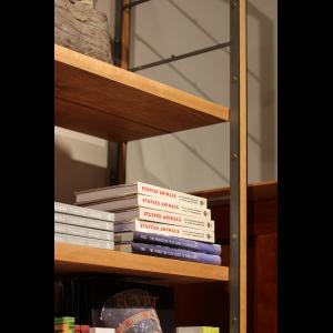 EngineHouse Riveted Cherry + Steel Shelf