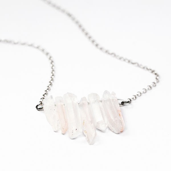 Frost Finery Crystal Necklace