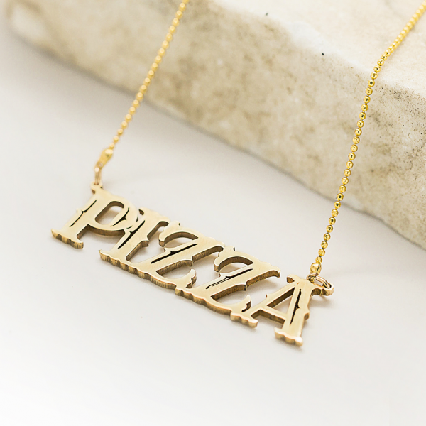Frost Finery Pizza Necklace