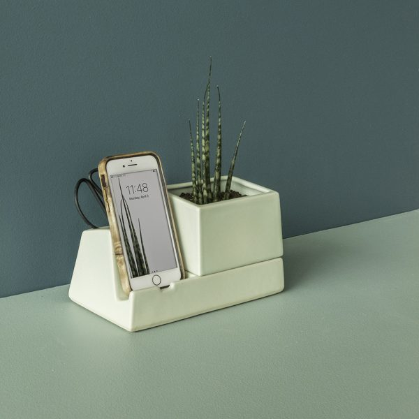 Stak Ceramics Sprout Planter Phone Dock