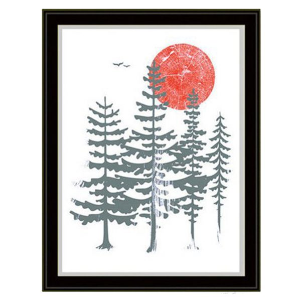 strawberryluna Evergreen Trees Print