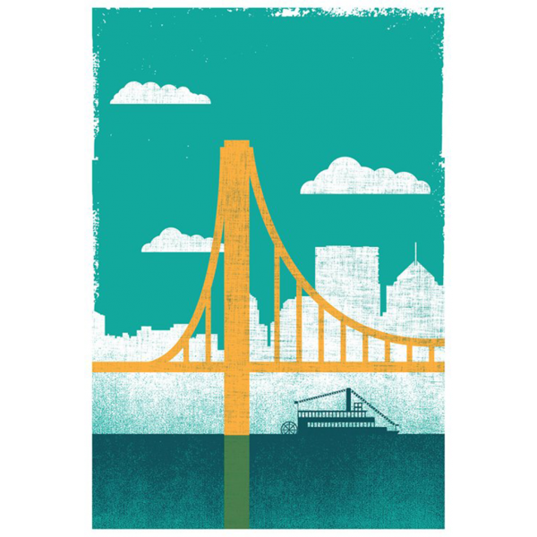 strawberryluna Pittsburgh City of Bridges Print